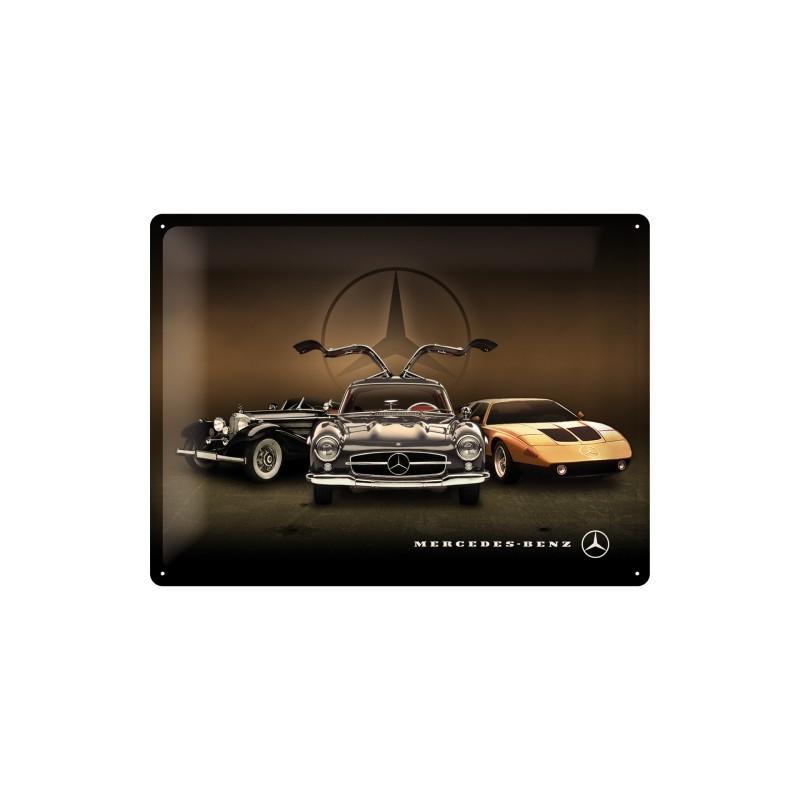 Librerie Metallo Milano.Targa In Metallo Mercedes Benz 3 Cars