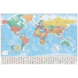 World Map (Flags and Facts) - Poster